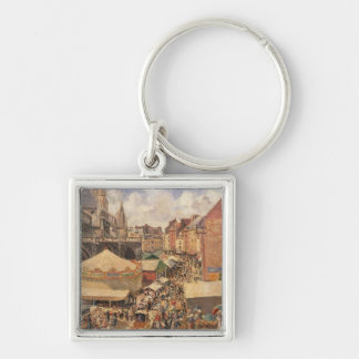 The Fair in Dieppe, Sunny Morning, 1901 Keychains