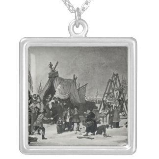 The Fair on the Thames Silver Plated Necklace