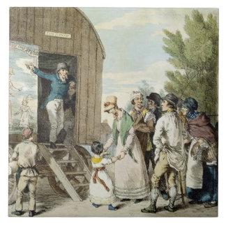 The Fairs: The Show, c.1821 (colour litho) Large Square Tile
