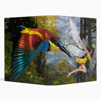 The Fairy and the Bee eater by RyuNeko-Artz 3 Ring Binder