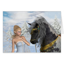 The Fairy and The Stallion, a christmas tale Card