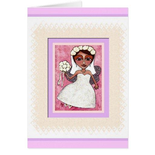 THE FAIRY BRIDE - bridal , wedding card