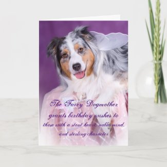 The Fairy Dogmother Funny Add a Name Birthday Card