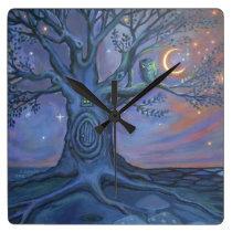 The Fairy Door Messenger - Art Clock
