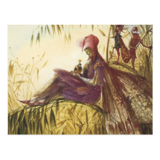 The Fairy Falconer Bird Postcard