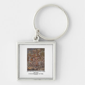 The Fairy Feller's Master-Stroke by Richard Dadd Silver-Colored Square Keychain