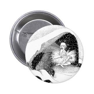 The Fairy in Winter Button
