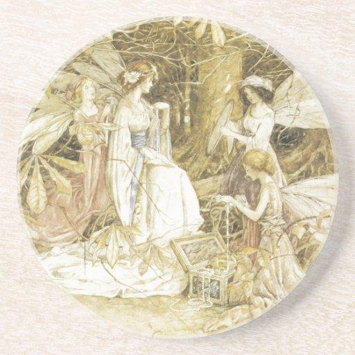 The Fairy Jewels Beverage Coaster