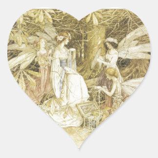 The Fairy Jewels Heart Sticker