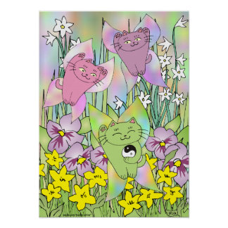 The Fairy Nekos of Spring Posters