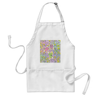 The Fairy Nekos of Spring with a Floral Background Adult Apron