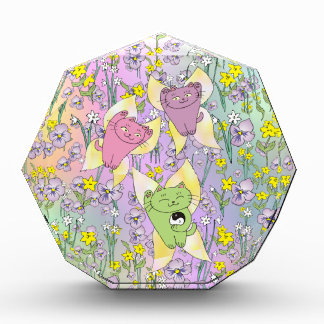 The Fairy Nekos of Spring with a Floral Background Award
