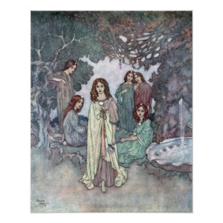 The Fairy of the Garden by Edmund Dulac Poster