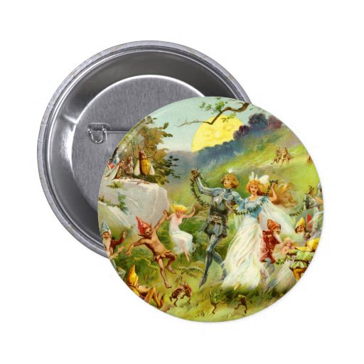 The Fairy Prince and Thumbelina 2 Inch Round Button