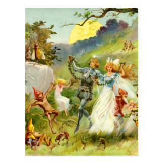 The Fairy Prince and Thumbelina Postcard