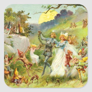 The Fairy Prince and Thumbelina Square Sticker