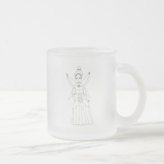 The Fairy Queen Frosted Glass Coffee Mug