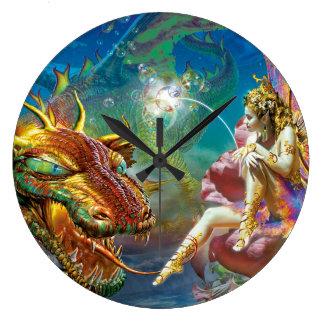 The Fairy & The Dragon Clock
