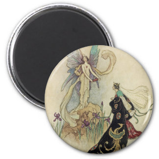 The Fairy There Welcomed Her Majesty 2 Inch Round Magnet