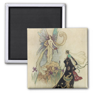 The Fairy There Welcomed Her Majesty 2 Inch Square Magnet