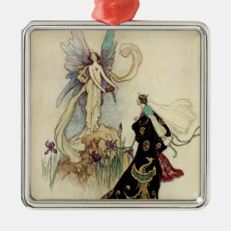 The Fairy There Welcomed Her Majesty Metal Ornament