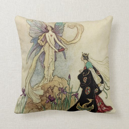 The Fairy There Welcomed Her Majesty Pillows