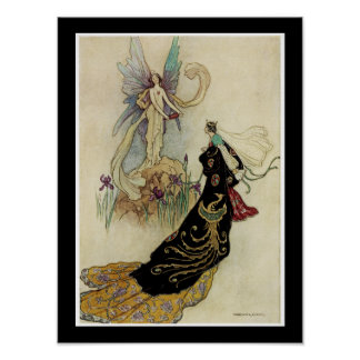 The Fairy There Welcomed Her Majesty Print
