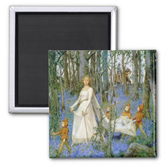 The Fairy Wood 2 Inch Square Magnet