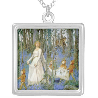 The Fairy Wood Square Pendant Necklace