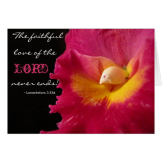 The faithful love of the Lord Stationery Note Card