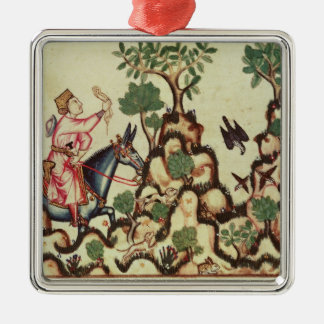 The Falcon Hunt, from the manuscript Christmas Ornament