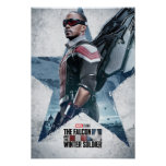 The Falcon Worn Star Poster