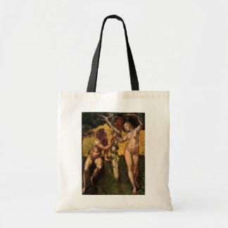 The Fall - Adam and Eve by Raphael or Raffaello Canvas Bag