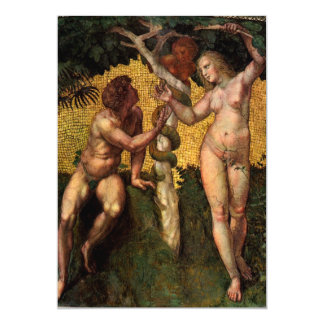 The Fall - Adam and Eve by Raphael Sanzio Card