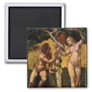 The Fall - Adam and Eve by Raphael Sanzio Magnet