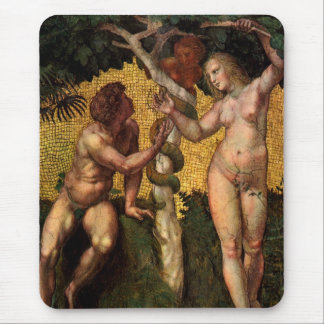 The Fall - Adam and Eve by Raphael Sanzio Mouse Pad