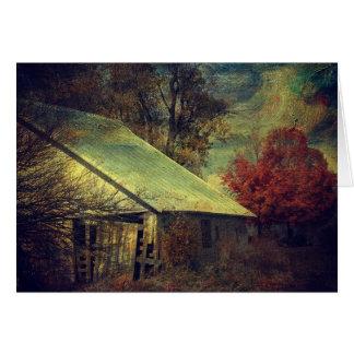 The Fall Barn Card