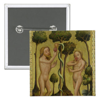 The Fall, detail from the Grabow Altarpiece 2 Inch Square Button