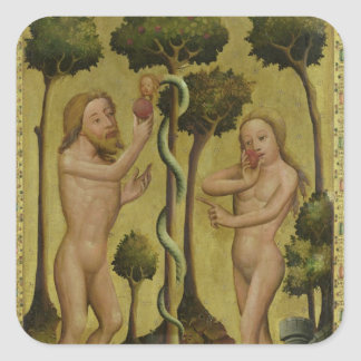The Fall, detail from the Grabow Altarpiece Square Sticker