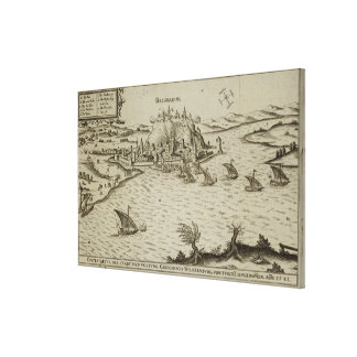 The Fall of Belgrade to the Turks in 1521, illustr Canvas Print