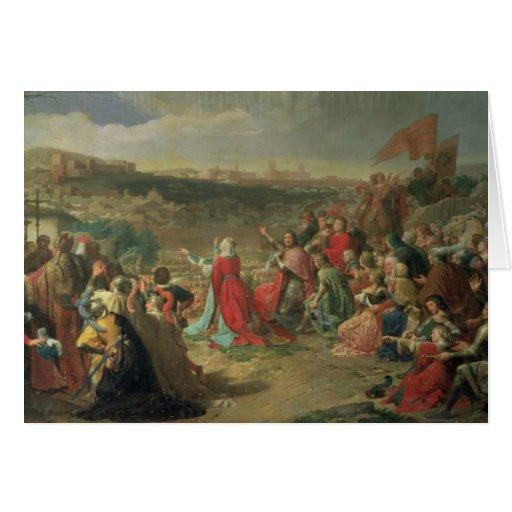 The Fall of Granada in 1492, 1890 Card