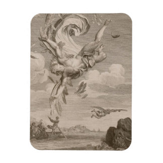 The Fall of Icarus, 1731 (engraving) Magnet