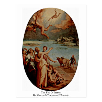 The Fall Of Icarus By Manzuoli Tommaso D'Antonio Post Cards