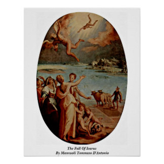 The Fall Of Icarus By Manzuoli Tommaso D'Antonio Posters