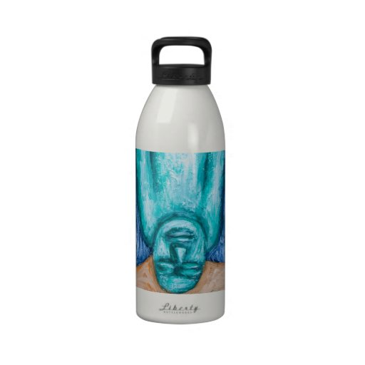 The Fall of Icarus (naive expressionism) Water Bottle