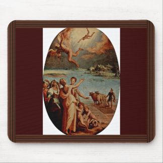 The Fall Of Icarus Oval By Manzuoli Tommaso D Anto Mouse Pads