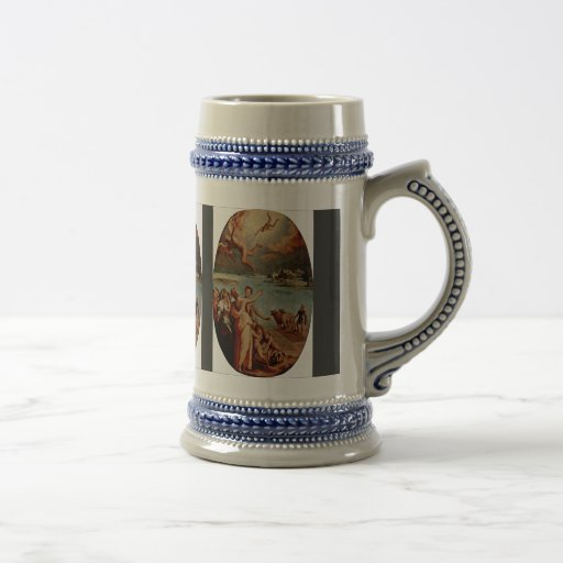 The Fall Of Icarus Oval By Manzuoli Tommaso D'Anto Coffee Mugs