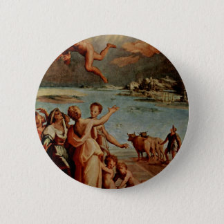 The Fall Of Icarus Oval By Manzuoli Tommaso D'Anto Pinback Button