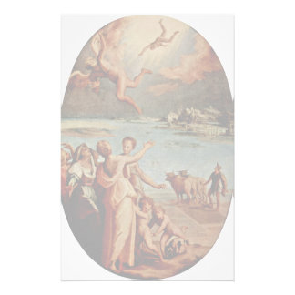 The Fall Of Icarus Oval By Manzuoli Tommaso D'Anto Customized Stationery