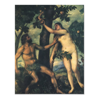 The Fall of Man; Adam and Eve by Titian Card